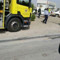 #البحرين :بالصور حادث على شارع الشيخ جابر يودي بحياة آسيوي وإصابة آخرون